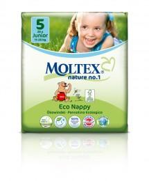 Moltex nature no. 1 Jednorázové dětské bio plenky Junior 11-25kg (velikost 5-6) 26ks