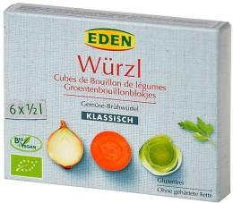 WÜRZL Bujon zeleninový BIO kostky EDEN 3l (6x11g)
