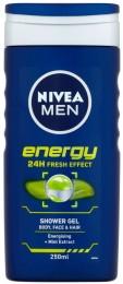 Nivea Men Energy sprchový gel na tělo, tvář a vlasy