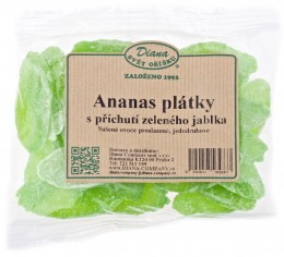 Diana Ananas sušený plátky s příchutí Zelené jablko