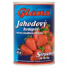 Giana Jahodový kompot v mírně sladkém nálevu