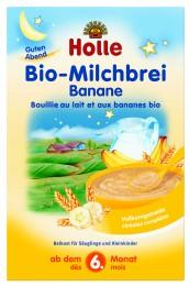 Holle Bio banánová mléčná kaše vhodná od 6. měsíce věku