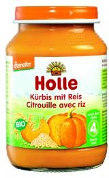 Holle Bio dětská přesnídávka dýně s rýží