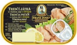 F.J.Kaiser Tresčí játra ve vlastním oleji s citrónem RP