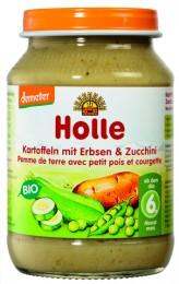 Holle Bio dětská přesnídávka brambor, hrášek a cuketa