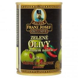 F.J.Kaiser Olivy zelené plněné pálivou paprikovou pastou