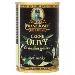 F.J.Kaiser Olivy černé bez pecky ve slaném nálevu