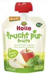 Holle Bio kapsička hruška, jablko a špenát