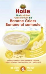 Holle Bio Organická ovocná kaše banán-krupice  vhodná od 6. měsíce věku
