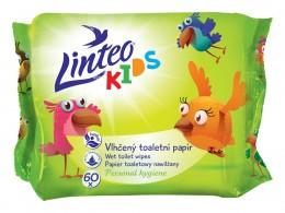 Linteo Kids Vlhčený toaletní papír, 1-vrstvý, 60ks