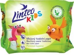 Linteo Kids Vlhčený toaletní papír, 1-vrstvý, 50ks