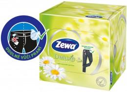 Zewa Deluxe Camomile papírové kapesníky 3vrstvé 60ks