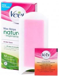 Veet Natural Inspirations Voskové pásky pro nohy a tělo 12ks