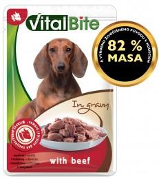 VitalBite dušené filetky hovězí v omáčce