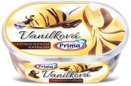 Prima vanička - Vanilková sčokoládovým toppingem