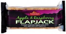 WHOLEBAKE Flapjack ovesný ovesný malina-jablko