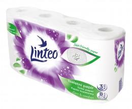Linteo toaletní papír bílý 3vr. 8ks