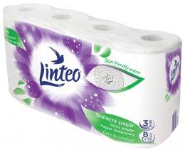 Linteo toaletní papír bílý, 20 metrů, 3vrstvý, 8ks