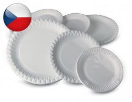 Papírový talíř průměr 23cm, 12ks