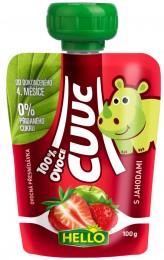 Hello Cuuc 100% ovocná přesnídávka s jahodami