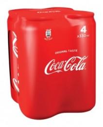 Coca-Cola 4x0,33l plech