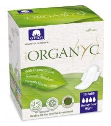Bio Organyc dámské vložky dlouhé - noční 10ks
