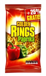 Golden snack Golden Rings paprikové