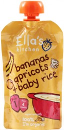 Ella's Kitchen Dětská rýže - Banán a meruňka