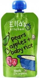 Ella's Kitchen Dětská rýže - Hruška a jablko