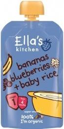 Ella's Kitchen Dětská rýže - Banán a borůvky