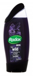 Radox Men Feel wild blackberry & ginger 2v1 pánský sprchový gel a šampon