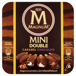 Magnum Mini Double Caramel Chocolate 6x60ml
