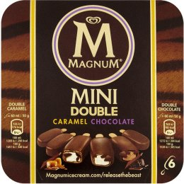 Magnum Mini Double Caramel Chocolate 6x60ml