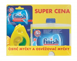 Finish Čistič myčky Lemon 250ml + DEO Lemon