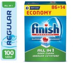 Finish All in One 86ks + 14ks ZDARMA tablety do myčky na nádobí
