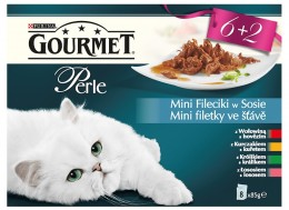 Gourmet Perle mini filetky ve šťávě multipack 8x85g