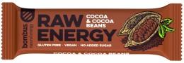 Bombus natural energy cocoa & cocoa beans RAW tyčinka