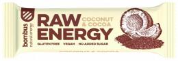 Bombus natural energy cocoa & coconut RAW tyčinka