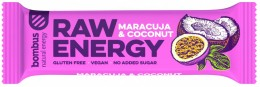 Bombus natural energy maracuja & coconut RAW tyčinka