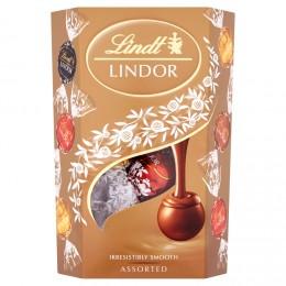 Lindt Lindor Směs čokoládových pralinek s jemnou krémovou náplní