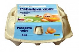 Pohodová vejce velikost L 6ks - podestýlková