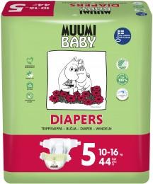 Muumi Baby eko plenky Maxi+ 10-16kg (velikost 4+) 44ks