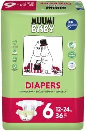 Muumi Baby eko plenky Junior 12-24kg (velikost 5-6) 36ks