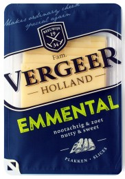 Vergeer Emmental 45+ sýr - plátky