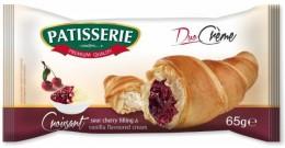 Patisserie Croissant svišňovou náplní a vanilkovým krémem