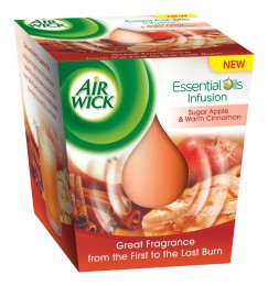 Airwick Vonná svíčka Essential Oil Infusion Červené jablko a svařené víno