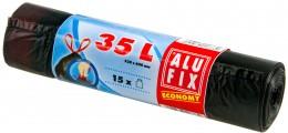 Alufix Pytle na odpadky černé se zatahováním 35l, 15ks