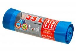 Alufix Pytle na odpadky modré zatahovací 35l, 15ks