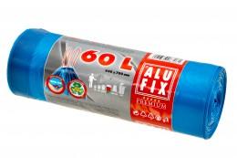 Alufix Pytle na odpadky modré zatahovací 60l, 15ks