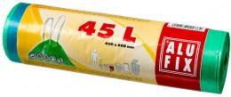 Alufix Pytle na odpadky zelené zatahovací 45l, 20ks